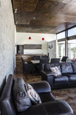 pièce de vie - La Tomatina House par Plastik Arquitectos - Aguascalientes, Mexique