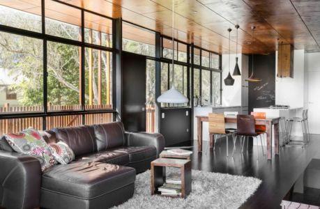 pièce de vie - Northern Rivers Beach House par Refresh Architecture - South Golden Beach, Australie
