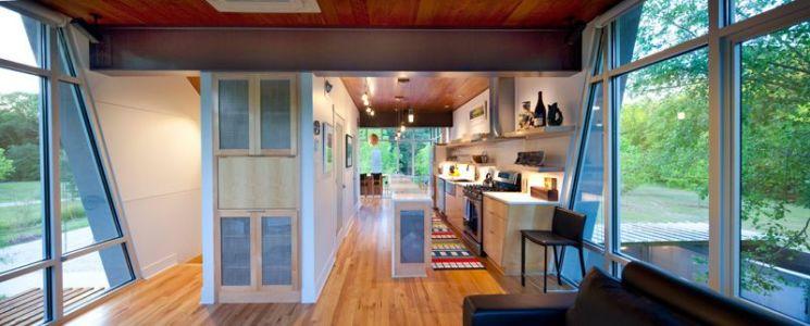 pièce de vie - Pond-House par Holly-Smith-&-Architectes - Louisiane, USA