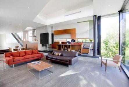 pièce de vie - Port Hope House par Teeple Architects - Ontario, Canada