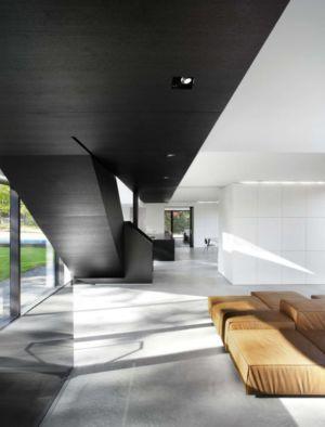 pièce de vie - Private Residence St-Sauveur par  Saucier + Perrotte architectes -  Saint-Sauveur, Canada