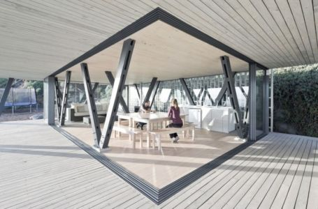 pièce de vie - Rambla House par LAND Arquitectos - Zapallar, Chili