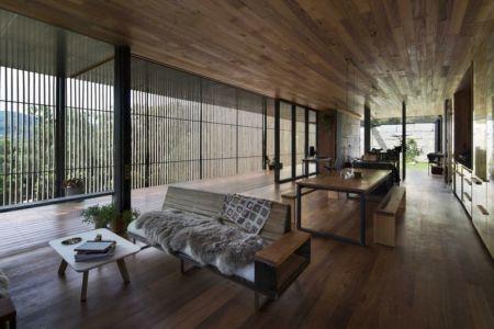 pièce de vie - Sawmill-House par Archier - Yackandandah, Australie