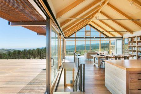 pièce de vie - Sunshine Canyon House par Renée del Gaudio Architecture - Boulder, Usa