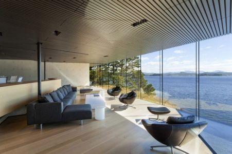 pièce de vie - Tula House par Patkau Architects - Quadra Island, Canada