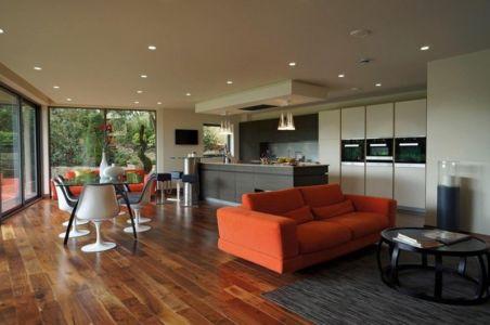 pièce de vie - Ventura House par David James Architectes - Dorset, Royaume-Uni