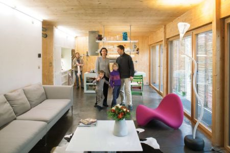 pièce de vie - Witzmann résidence par Karawitz Architecture - France -  Photo Nicholas Calcott