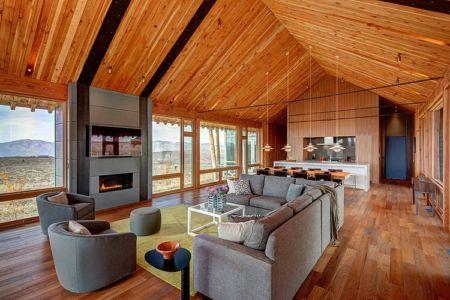 pièce de vie - Wolf Creek Ranch par S+D Architects - Utah, Usa