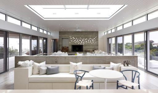 pièce de vie étage - Ocean Deck House par Stelle Lomont Rouhani Architects - Bridgehampton, USA