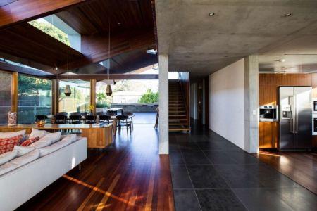 pièce de vie - edge house par Steele Associates - Australie