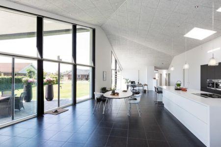 pièce de vie & grande baie entrée - maison exclusive par Skanlux - Danemark