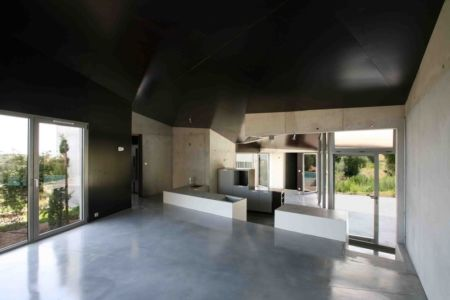 pièce de vie - maisons contemporaines par Bona-Lemercier - Monticello, France