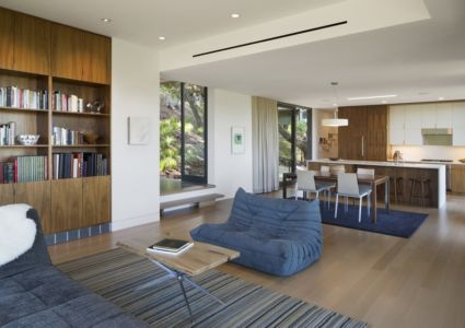 pièce de vie - résidence d'été par Shands Studio Architects - San Anselmo, Usa