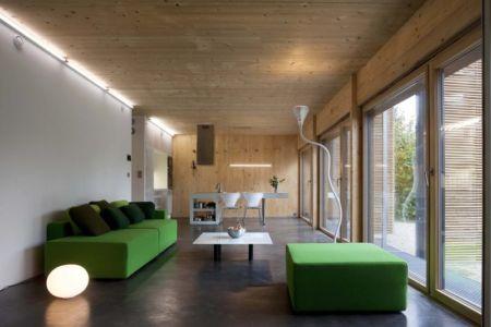 pièce de vie - salon - Witzmann résidence par Karawitz Architecture - France -  Photo Nicholas Calcott