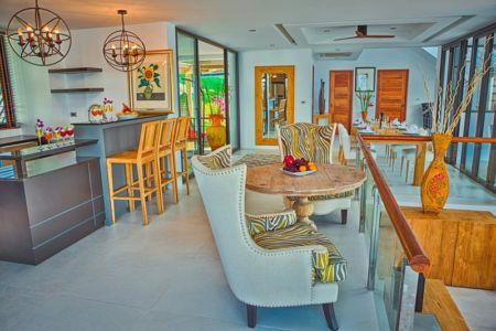 pièce de vie - villa contemporaine - Phuket, Thaïlande