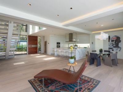 pièce de vie - villa contemporaine à Malibu, Usa