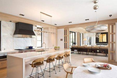 pièce de vie - villa par Krutz Homes - Floride, USA