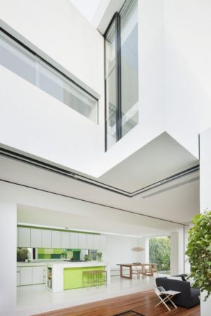pièce de vie - white cube par Matt Gibson Architecture - Melbourne, Australie