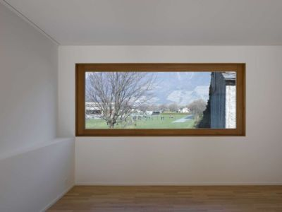 chambre et vue panoramique - House-transformation par clavienrossier architects - Suisse