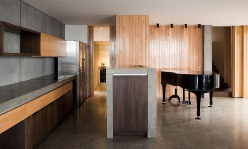cuisine et piano - Home Overhanging par MGArchitects - Tasmanie, Australie