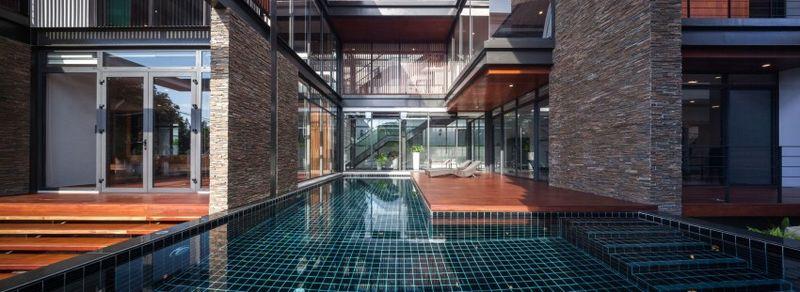 piscine - Bridge-House par Junsekino Architects And Design - Bangkok, Thaïlande