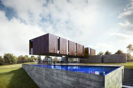 piscine - MM house par Sergio Sampaio - Brésil