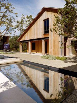 piscine - Mountain Wood Residence par Walker Warner Architects -Woodside, Usa