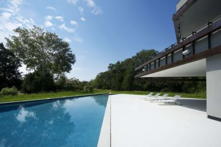 piscine - Sayres House and Hanging Gardens par Maziar Behrooz Architecture - East Hampton, Usa