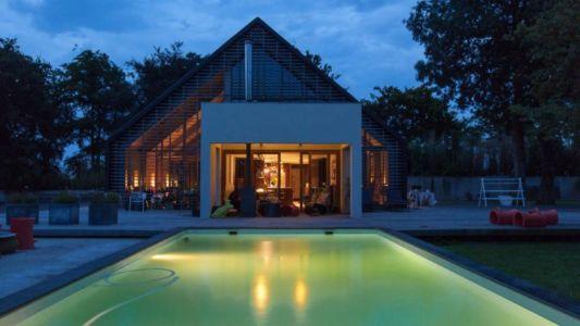 piscine de nuit - Donderen Barnhouse par aatvos - Donderen, Pays-Bas