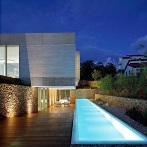 piscine de nuit - Olive House par LOG-URBIS - Pag, Croatie