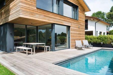 façade terrasse et piscine - despang par Despang Schlüpmann Architekten - Allemagne