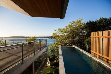 piscine - edge house par Steele Associates - Australie