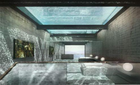 piscine en hauteur en verre - Casa Brutale par OPA_Open Plateform - Grèce