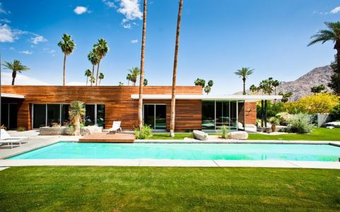 piscine et terrasse - F-5 Residence par Studio AR+D Architects - Indian Wells, Usa