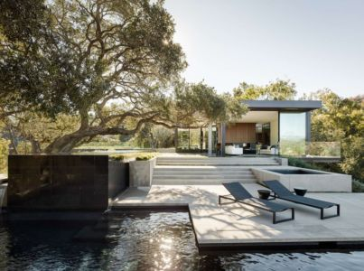 piscine et terrasse - Oak Pass Main House par Walker Workshop - Los Angeles, Usa