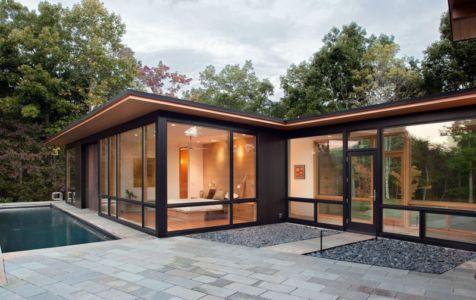 piscine et terrasse - Piedmont Residence par Carlton Architecture - Asheville, Usa