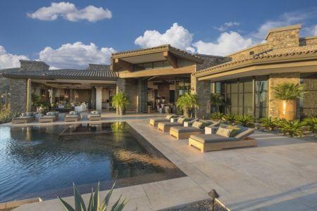 piscine et terrasse - villa du desert par Tor Barstad -Scottsdale, Usa