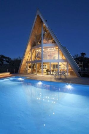 piscine - frame-house par Bromley Caldari Architects - New York, USA