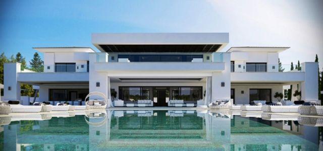 piscine extérieure - luxueuse villa par Ark Architects - San Roque, Espagne