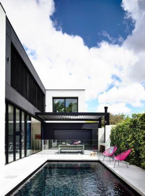 piscine terrasse - Kew House par Amber Hope Design - Melbourne, Australie