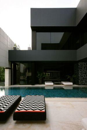 piscine & terrasse design - desert-rose par Massimiliano Camoletto - Koweit.