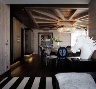 placards modernes salle à manger - Luxury Chalet par Jean-Marc et Anne-Sophie Mouchet - Courchevel, France