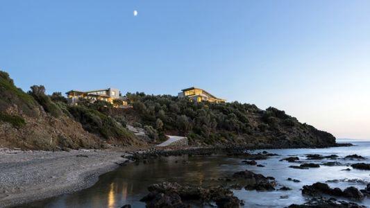 plage et vue d'ensemble - Notre Ntam' Lesvos Residences par Z-level à Agios - Fokas, Grèce