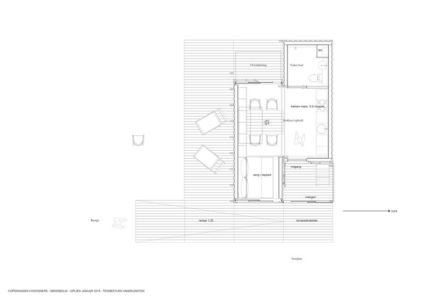 plan 2D - Container-Home par Copenhagen Container Copenhague, Danemark