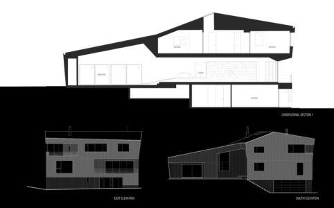plan 2D coupe site1 - DR_RESIDENCE par SU1 Architects + Design - Connecticut, USA
