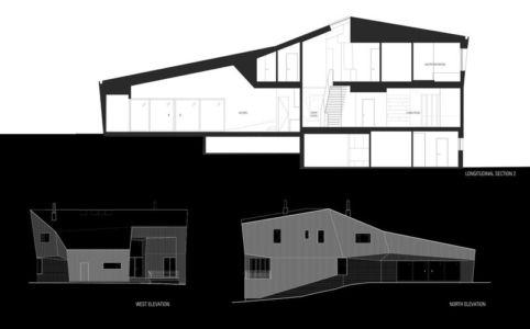 plan 2D coupe site2 - DR_RESIDENCE par SU1 Architects + Design - Connecticut, USA