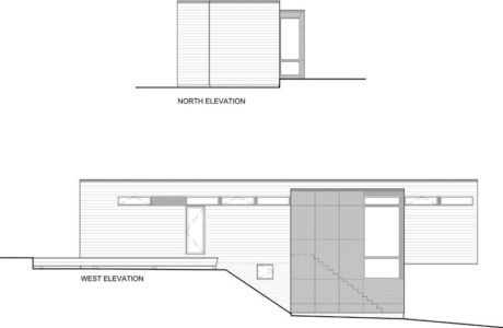 plan 2D section1 - Holiday-Home-Hangs par Christopher Simmonds Architects - Val-des-Monts, Québec