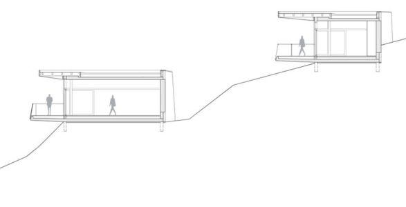 plan 2D section1 - Villas-2B par Love Architecture - Graz, Autriche