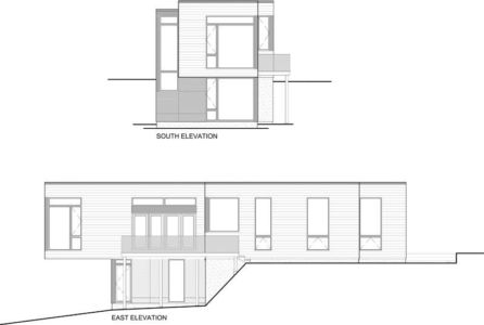 plan 2D section2 - Holiday-Home-Hangs par Christopher Simmonds Architects - Val-des-Monts, Québec