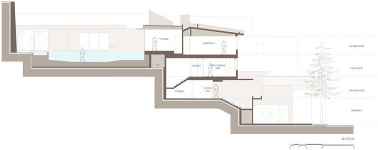 plan 2D site - Barrancas House par Ezequielfarca Architecture & Design - Mexico, Mexique